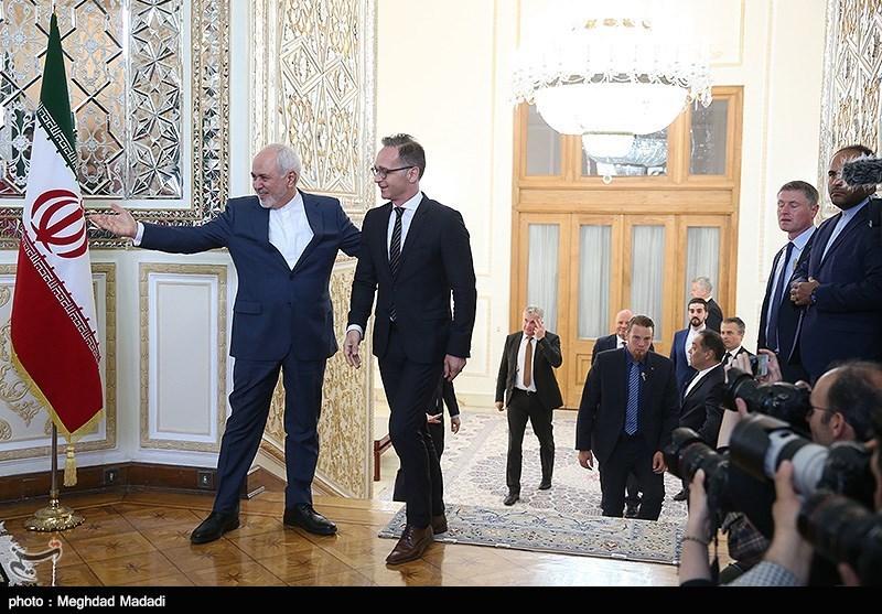محمدجواد ظریف وزیر امور خارجه و هایکو ماس وزیر خارجه آلمان
