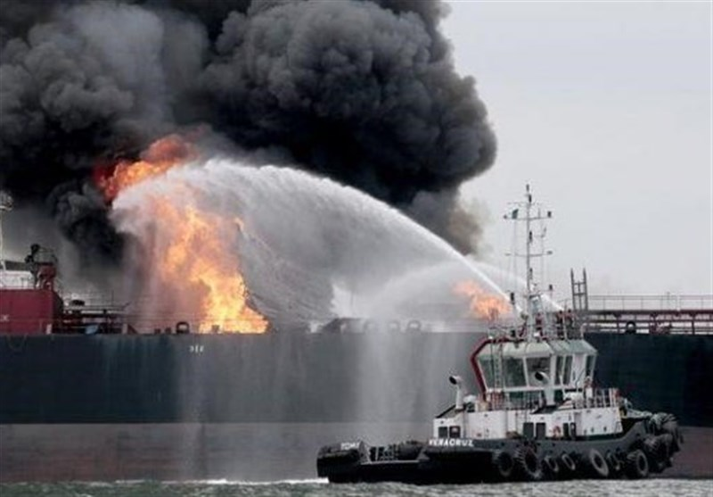 انتشار اخباری از انفجار 2 نفتکش در دریای عمان