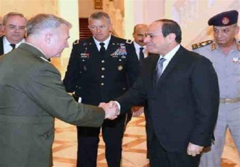 دیدار السیسی با فرمانده تروریستهای «سنتکام»