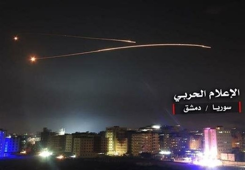 Syria Air Defense Shoots Down Israeli Missiles over Damascus