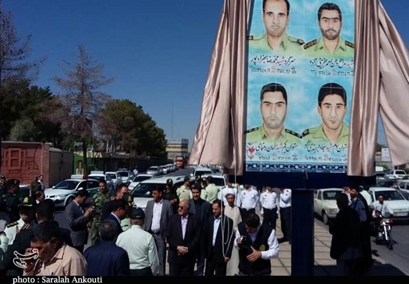 رونمایی از تمثال شهدای نیروی انتظامی استان کرمان +تصاویر