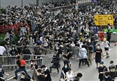 Thousands of Hong Kong Protesters Gather, Govt. Offices Shut after Violence