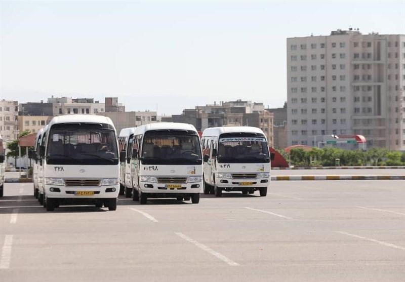 بهرهبرداری از 100 دستگاه مینیبوس درون شهری در مشهد + تصاویر