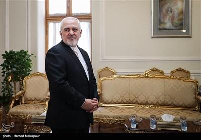 محمدجواد ظریف وزیر امور خارجه قبل از دیدار با سفیر جدید چین