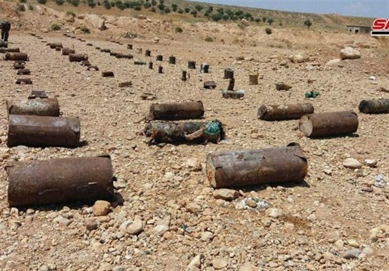 کشف انبار بزرگی از مواد منفجره متعلق به گروههای تروریستی در حومه دمشق