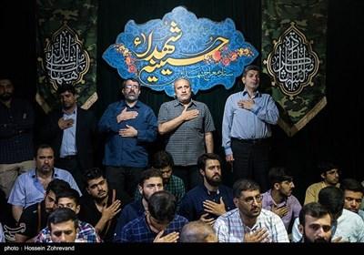 مراسم وداع با پیکر مطهر شهید مدافع حرم محمد جنتی