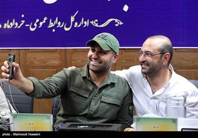 مهران نائل و نیما رئیسی در نشست خبری عوامل سریال دل دار
