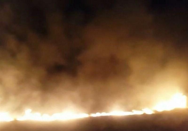 آتشسوزی مزارع چم گرداب پلدختر مهار شد