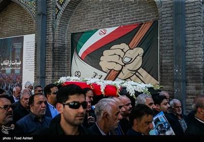 مراسم تشییع پیکر محمدرضا حافظی مدرسه ساز خیر