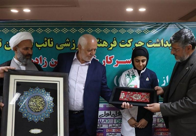 نائب قهرمان تکواندوی جهان مدالش را به آستان قدس رضوی اهداء کرد