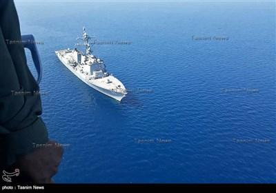 حضور ناوشکن آمریکائی USS Bainbridge (DDG 96) در محل حادثه