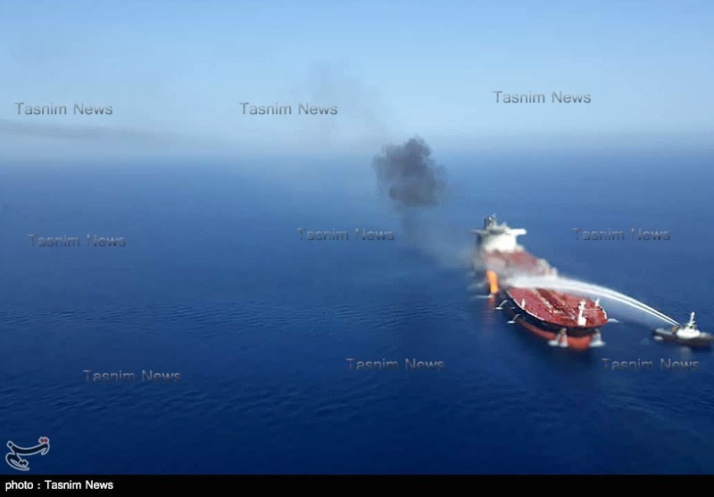 Tasnim's Photos, Videos of Rescue Operation after Tankers' Incidents in Gulf of Oman