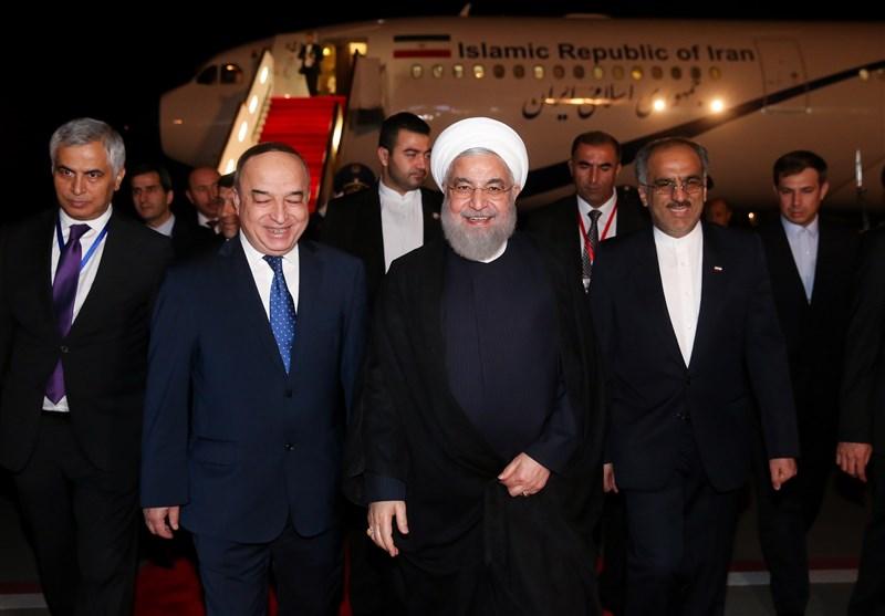 روحانی وارد دوشنبه پایتخت تاجیکستان شد