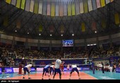 لیگ ملتهای والیبال ـ ارومیه  دیدار تیمهای والیبال روسیه و لهستان به روایت تصویر
