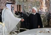 وسائل الاعلام الاماراتیة والسعودیة تتناول بغضب لقاء روحانی وامیر قطر