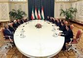 تاکید روسای جمهور ایران و تاجیکستان بر گسترش روابط دو جانبه