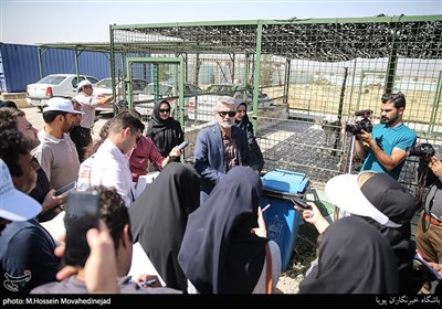 حمیدرضا تحصیلی مدیرعامل شرکت صنایع و مشاغل شهر تهران در جمع خبرنگاران