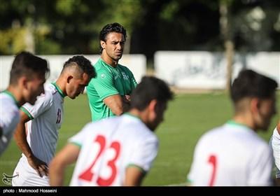 اولین تمرین تیم ملی فوتبال امید با حضور فرهاد مجیدی به عنوان سرمربی