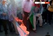 پرچم رژیم صهیونیستی در تونس به آتش کشیده شد