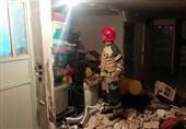 تهران| انفجار شدید بر اثر نشت سیلندر گاز + تصاویر
