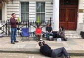 Iran's Envoy Raps Protests Blocking Embassy Entrance in London