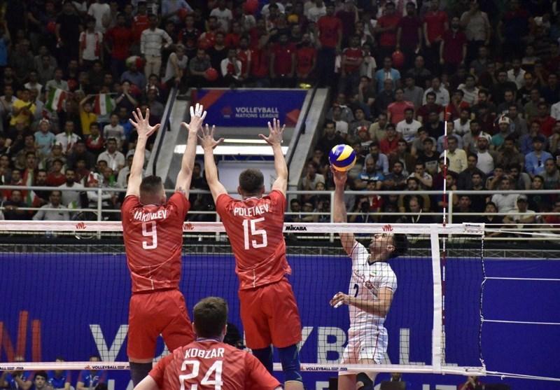 لیگ ملتهای والیبال - ارومیه | دیدار تیمهای ملی والیبال ایران و روسیه به روایت تصویر