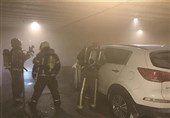 تهران| حبس ساکنان ساختمان میان دود و آتش اسپورتیج + تصاویر