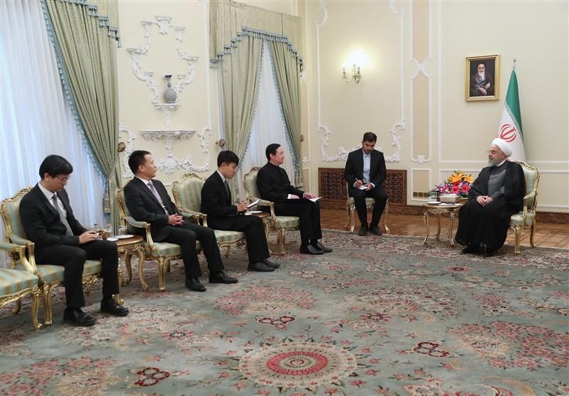 اعلام آمادگی روحانی برای توسعه روابط در همه حوزهها با چین