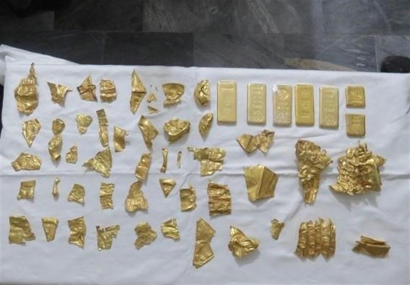 کشف 6 شمش طلا و 50 قطعه عتیقه به ارزش 50 میلیارد