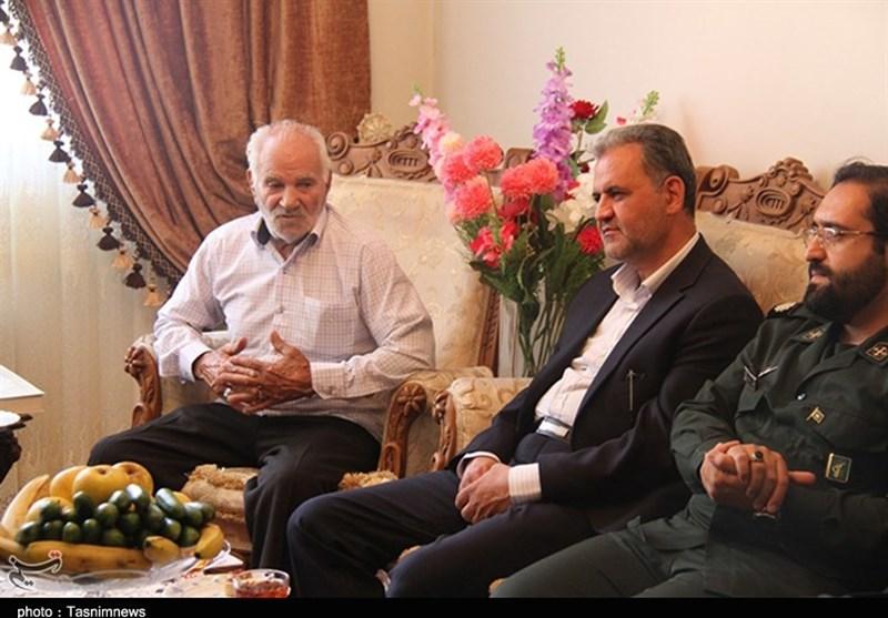 دیدار فرماندار پردیس با خانواده شهیدان معصومی و نوری + تصاویر
