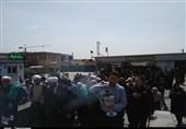 استشمام تربت امام حسین (ع) از کربلای ایران + تصاویر