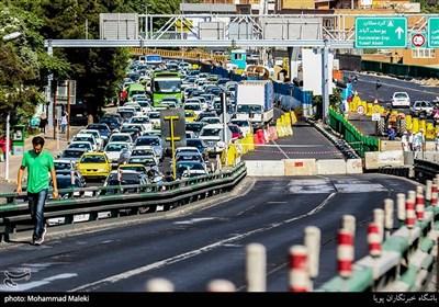 عملیات جمع آوری پل گیشا در غرب تهران و ترافیک نیمه سنگین