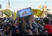 """مراسم تشییع طلبه شهید مدافع حرم""""مومنی"""" در قم به روایت تصویر"""