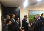 ایرانی پارلیمانی وفد پارلیمنٹ ہاﺅس پہنچنے پر پرتپاک استقبال