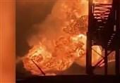 آتش سوزی و انفجار مهیب در پالایشگاه فیلادلفیا+عکس و فیلم