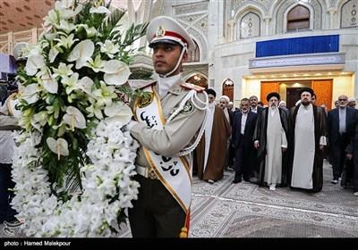 تجدید میثاق حجتالاسلام سیدابراهیم رئیسی رئیس قوه قضائیه و مسئولان عالی قضایی با آرمانهای امام راحل