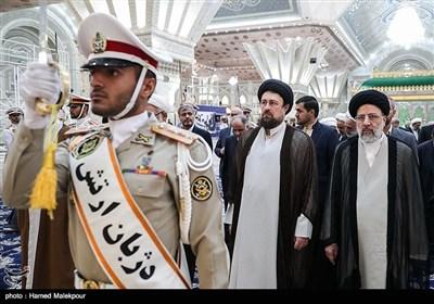 حجتالاسلام سیدابراهیم رئیسی رئیس قوه قضائیه و حجتالاسلام سیدحسن خمینی