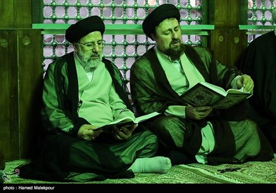 حجتالاسلام سیدحسن خمینی و حجتالاسلام سیدابراهیم رئیسی رئیس قوه قضائیه