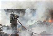 آتشسوزی سوله 2000 متری در جاده قم