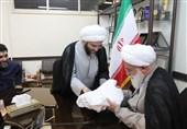اهدای پارچه عمامه تولید ایران به علمای اخلاق تهران
