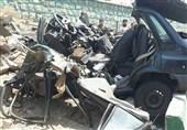 تهران  مرگ راننده جوان در پراید لهشده + تصاویر