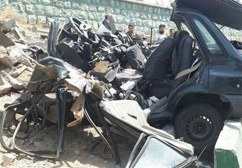 تهران| مرگ راننده جوان در پراید لهشده + تصاویر