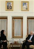 دیدار رئیس اتحادیه جهانی بین المجالس با ظریف