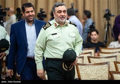 سردار حسین اشتری فرمانده ناجا در نشست سفرا و کارداران کشورهای خارجی با رییس قوه قضاییه