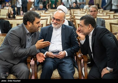 علیرضا آوایی وزیر دادگستری و قاضی ناصر سراج در نشست سفرا و کارداران کشورهای خارجی با رییس قوه قضاییه