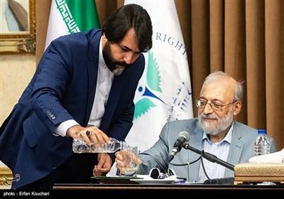 محمدجواد لاریجانی رئیس ستاد حقوق بشر قوه قضائیه ایران در نشست سفرا و کارداران کشورهای خارجی با رییس قوه قضاییه