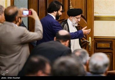 ورود حجت الاسلام سید ابراهیم رئیسی، رئیس قوه قضائیه
