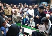 وداع مردم تهران با پیکر مطهر شهید ابراهیم عشریه+عکس و فیلم
