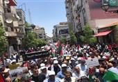 الفلسطینیون یواصلون مسیراتهم رفضاً لورشة البحرین
