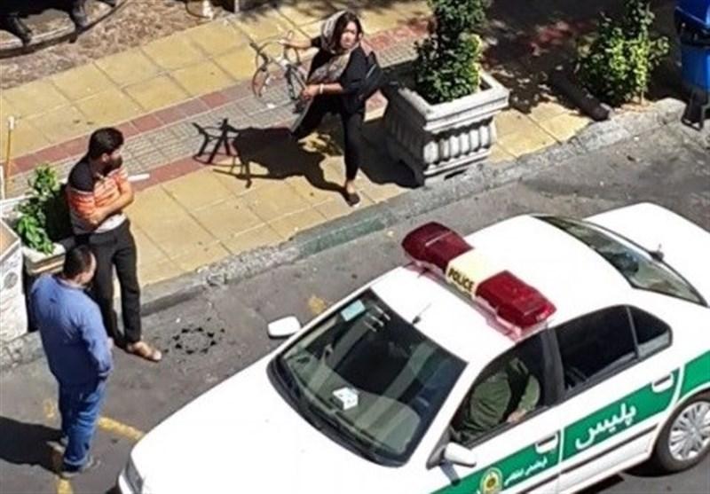 تهران| روایت یک شاهد از رفتار خشن زن جوان با خودروی پلیس + تصاویر